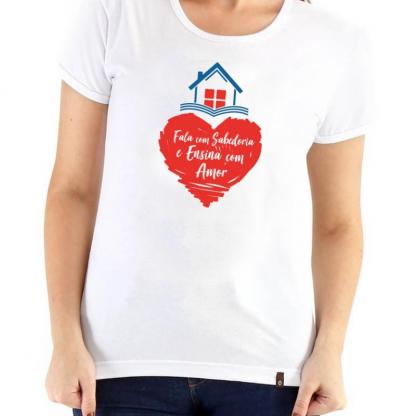 Camiseta Branca Feminina Frente