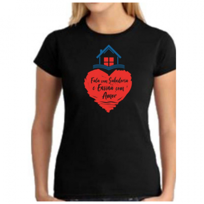 Camiseta Preta Feminina Frente