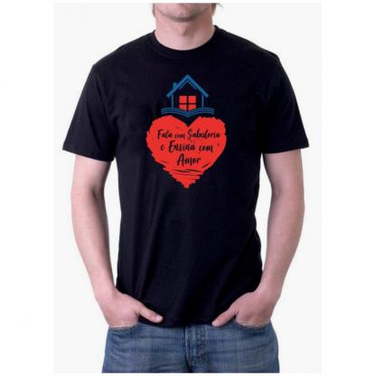 Camiseta Preta Masculina Frente